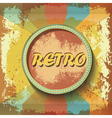 Abstract retro banner on grunge background vector