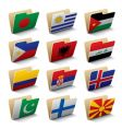 World folders icons vector