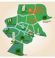 Paris tourist map vector