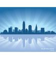 Cleveland ohio skyline vector