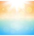 Sunny summer background vector