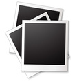 Blank photo frames vector