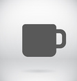 Flat coffee mug tea cup icon symbol background vector