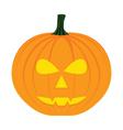 Halloween pumpkin isolated on white vector