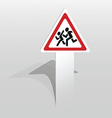 Children warning sign vector