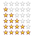 Simple yellow rating stars vector