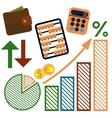 Money finance banking icons set vector