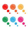 Hand drawn bubbles vector