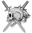 Cross swords and skull vector