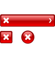 Cross button set vector