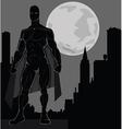 Super hero over city vector
