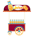 A pushcart selling orange juice vector