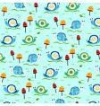 Retro snail pattern vector