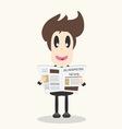 Business news newspaper vector