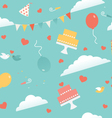 Wedding party seamless pattern vector