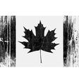 Canadian flag on a wood vector