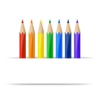 Colored pencils and paper banner vector