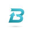 Letter b arrow ribbon logo icon design template vector