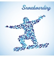 Abstract snowboarder in jump vector