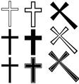 Christian crosses vector