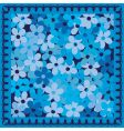 Cold blue flowers vector