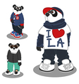 Panda lifestyle fashion 3 vector