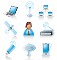 Communication icons vector