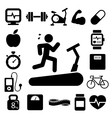 Fitness and health icons eps10 vector