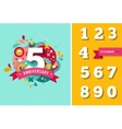 Anniversary - background with set of numbers vector