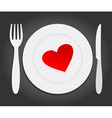Red heart dinner vector