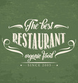Retro organic food restaurant poster vector
