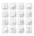 White flat icons web design elements vector