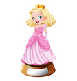 A princess trophy vector