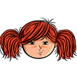 Red head girl smiley vector