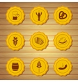 Icons of beer caps vector