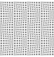 Design seamless monochrome warped zigzag pattern vector