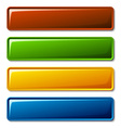 Blank shiny buttons vector