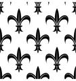 Seamless fleur-de-lis royal black pattern vector