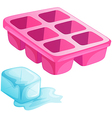 A pink ice tray vector
