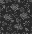 Seamless pattern with dog-roses vector