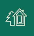 Real estate house symbol vector