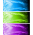 Abstract christmas banners vector