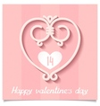 Pink ornaments heart of lines a symbol of love vector