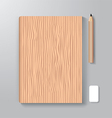 Book cover design style template wood textuer vector