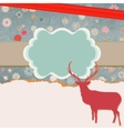 Christmas reindeer card template vector