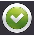 Yes button ok icon green sticker vector