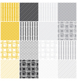 Geometric seamless patterns vector