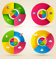Circle step with icons template vector