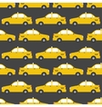 Seamless pattern of yellow taxi car flat design vector