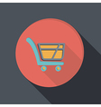 Paper flat icon cart online store vector
